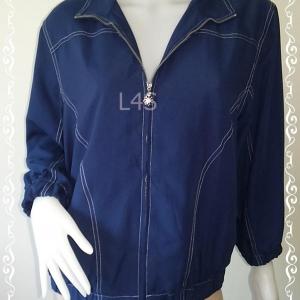 BNjean0043--เสื้อคลุม สีน้ำเงิน แบรนด์ alfred dunner อก 44 นิ้ว