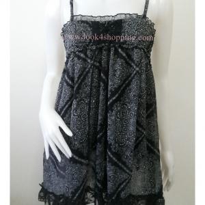"""Dress0747--เดรสแฟชั่น ชีฟอง สวยๆ """"อก 26-36 นิ้ว"""""""