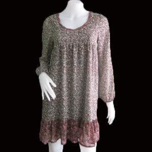 """Dress0155--เดรสแฟชั่น ชีฟอง นำเข้า Heather """"อก 34 นิ้ว"""""""