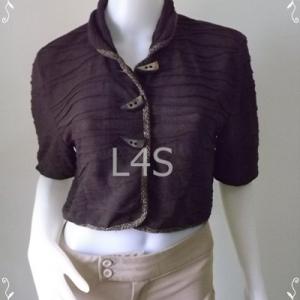 jp3906-เสื้อคลุมแฟชั่น สวยๆ สีน้ำตาล อก 36-40 นิ้ว