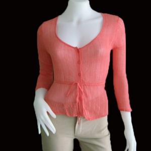 """BNK0116--เสื้อแฟชั่น นิตติ้ง สีส้ม Forever """"อก 30-32 นิ้ว"""""""