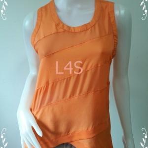 jp4528--เสื้อแฟชั่น ชีฟอง สีส้ม NAKED ZEBRA อก 35 นิ้ว