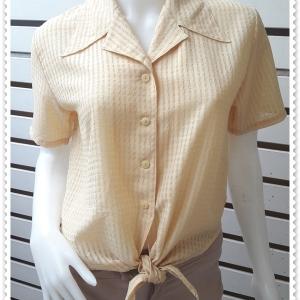 jp5019-เสื้อแฟชั่น นำเข้า สีเหลือง อก 38นิ้ว