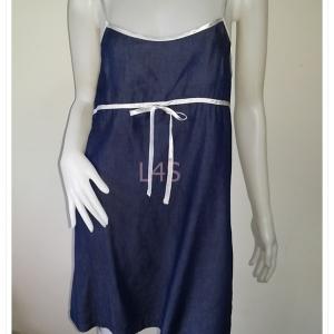 Dress0822--เดรสแฟชั่น สีน้ำเงิน Blue Velvet อก 32 นิ้ว