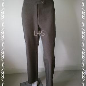 BNB1366--กางเกงผ้า สีน้ำตาลลายทาง แบรนด์ Stephanie เอว 31 นิ้ว