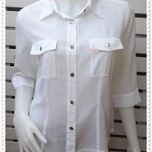 jp5040-เสื้อแฟชั่น ชีฟอง สีขาว sun rose อก 37 นิ้ว