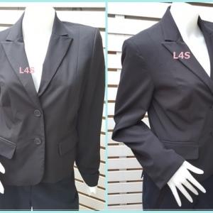 เสื้อสูท มือสอง นำเข้า สีดำ nine co. by nine west อก 36 นิ้ว