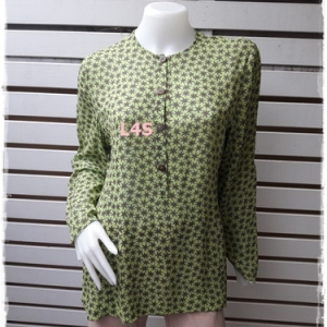 เสื้อแฟชัน สีเขียว แบรนด์ JASPAL อก 38 นิ้ว