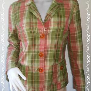 BNjean0045--เสื้อผ้ามือสอง/เสื้อคลุม ลายตาราง นำเข้า Talbots อก 36 นิ้ว