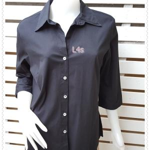jp5066---เสื้อเชิ้ต นำเข้า สีดำ GEMILLI อก 41 นิ้ว