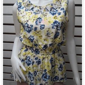 jp5202--เสื้อแฟชั่น นำเข้า ลายดอกไม้ SHELLNA อก 36 นิ้ว