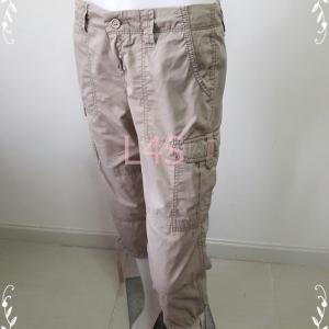 BNB1458-กางเกงผ้า สีน้ำตาล OLD NAVYเอว 28 นิ้ว