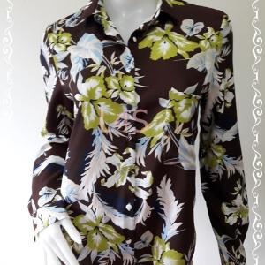 BN4559--เสื้อเชิ้ต แฟชั่น ลายดอกไม้ ZARA อก 38 นิ้ว