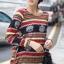 เสื้อแฟชั่นคอกลม แขนยาว หัวกระโหลก โทนสีแดง thumbnail 3