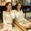 [พร้อมส่ง] เสื้อผ้าลูกไม้สีขาวเนื้อดี ซับในในตัว รอบอกประดับด้วยคริสตัลสวยเก๋ ใส่ได้หลายโอกาส A221 thumbnail 9