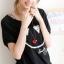 เสื้อยืดสีดำ สกรีนรอยยิ้ม Smile and Love สวยเท่ห์ thumbnail 3