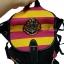 กระเป๋าสะพายหลังฮอกวอตส์สีดำ แทบสีชมพูบานเย็นสลับเหลือง thumbnail 5