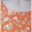 VJP5855-เดรสแฟชั่น มือสอง สีส้ม อก 32 นิ้ว thumbnail 6