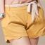 กางเกงขาสั้น Size M สีเหลือง สวมใส่สบาย เอวยางยืด (พร้อมผ้าผูกเอว) thumbnail 1