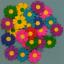กลีบดอกอัดลาย 25 ดอก