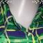 """jp3749-เสื้อแฟชั่น silk สีเขียวลายน้ำเงิน ROBBLE BEE """"อก 38 นิ้ว"""" thumbnail 4"""