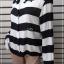 เสื้อเขิ้ต มือสอง สีขาวดำ แบรนด์ H&M อก 42 นิ้ว thumbnail 3
