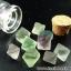 =หินฟลูออไรท์ (Fluorite) ขนาดเล็กในขวดแก้วจุกก๊อก