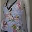 jp3579-เสื้อแฟชั่น สีฟ้าลาย นำเข้า LueyLove made in usa อก 34-36 นิ้ว thumbnail 2