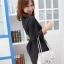 เสื้อทำงานเชิ๊ต สีดำ ตัวยาว แขนยาว พับติดกระดุม (สินค้าไม่รวมเข็มขัด) thumbnail 2