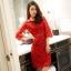 [พร้อมส่ง]เดรสไสตล์เกาหลี ดีเทลผ้าลูกไม้เนื้อดีสวยขึ้นเงาเกรดพรีเมี่ยมปักคริสตัล ช่วงเอว คอกลมแขนยาว ทรงสอบสวย มีซับใน ติดซิปด้านหลัง การตัดเย็บเรียบร้อย คุณภาพดีค่ะMN9 thumbnail 1