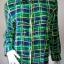 """jp3749-เสื้อแฟชั่น silk สีเขียวลายน้ำเงิน ROBBLE BEE """"อก 38 นิ้ว"""" thumbnail 1"""
