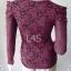jp3905-เสื้อแฟชั่น ลายดอกไม้ สีแดง อก 30-33 นิ้ว thumbnail 3