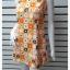 """VJP5800-เดรสแฟชั่น นำเข้า สีส้ม BURNISH """"อก 33 นิ้ว"""" thumbnail 4"""