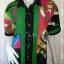 jp4224-เสื้อเชื้ตแฟชั่น นำเข้า สีเขียวลาย 30 ans อก 40 นิ้ว thumbnail 1