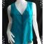 """jp1597-เสื้อ silk นำเข้า สีเขียว DIANE GILMAN """"อก 36 นิ้ว"""" thumbnail 1"""