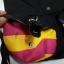 กระเป๋าสะพายหลังฮอกวอตส์สีดำ แทบสีชมพูบานเย็นสลับเหลือง thumbnail 3