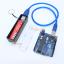 Power Bank แหล่งจ่ายไฟสำหรับ Arduino ESp8266 ชาร์จไฟผ่าน USB ถ่าน 18650 1 ก้อน สีดำ thumbnail 7