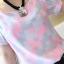 เสื้อแฟชั่น ทำงาน โทนชมพู สีสันสดใส แขนตุ๊กตาน่ารัก พอดีตัว thumbnail 4