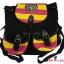 กระเป๋าสะพายหลังฮอกวอตส์สีดำ แทบสีชมพูบานเย็นสลับเหลือง thumbnail 1