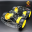 โครงรถ หุ่นยนต์ 4WD สีใส smart car chassis 1 ชั้น thumbnail 6