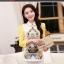 [พร้อมส่ง]เสื้อเชิ๊ตไสตล์เกาหลี ดีเทลผ้าพิมพ์ลาย คอปกแขนยาว ติดกระดุมที่คอด้านหลัง ทรงหลวม ตัดเย็บเรียบร้อย คุณภาพดีค่ะ thumbnail 1