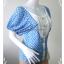 """jp2094-เสื้อแฟชั่น ชีฟอง สีฟ้าลายจุดขาว """"อก 32 นิ้ว"""" thumbnail 3"""