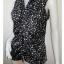 BN2657--เสื้อแฟชั่น สีดำลายดำ wetseal อก 35 นิ้ว thumbnail 2
