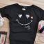 เสื้อยืดสีดำ สกรีนรอยยิ้ม Smile and Love สวยเท่ห์ thumbnail 4