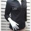 BN4843--เสื้อเชิ้ต นำเข้า สีดำ new york company อก 35-36 นิ้ว thumbnail 3