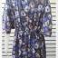 VJP5590--เดรสแฟชั่น หรือเสื้อตัวยาว ชีฟอง ลาย อก free thumbnail 4