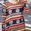 เสื้อแฟชั่นคอกลม แขนยาว หัวกระโหลก โทนสีแดง thumbnail 4