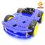 โครงรถ หุ่นยนต์ 4WD สีน้ำเงิน smart car chassis thumbnail 1