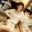 [พร้อมส่ง] เสื้อผ้าลูกไม้สีขาวเนื้อดี ซับในในตัว รอบอกประดับด้วยคริสตัลสวยเก๋ ใส่ได้หลายโอกาส A221 thumbnail 2