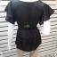 BN4632--เสื้อแฟชั่น แบรนด์เนม สีดำ charlotterusse อก 34 นิ้ว thumbnail 4